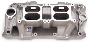 7525 Edelbrock Performer Rpm Dual quad Air gap For Small block Chevy