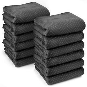 12 Heavy duty Padded Weighted Moving Packing Blankets Ultra Thick Pro 80 X 72