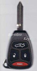 Replacement Remote Key Fob For Dodge Avenger Nitro Jeep Compass Patriot Wrangler