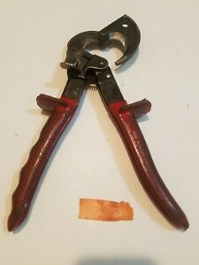 Klein Tools Ratcheting Cable Cutter 63060 Fair Condition 600 Mcm Copper