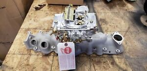 Offenhauser 1949 1953 Ford Flathead 4 brl Intake With New Holley Holley Fr 80457