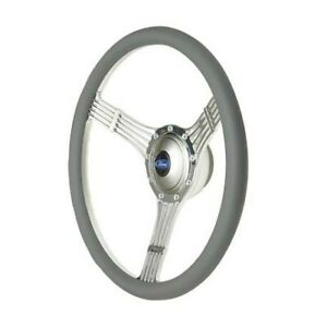 Gt Performance 21 42454 Steering Wheel Retro Banjo Gray Leather Pol