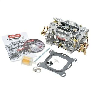 1412 Edelbrock Carburetor Performer Series 4 barrel 800 Cfm Manual Choke Satin F