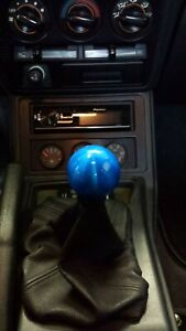 Candy Blue Weighted Ball Shift Knob Fits Some Honda acura toyota subaru nissan