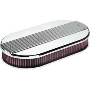 Billet Specialties 15650 Dual Quad Ribbed Oval Air Cleaner