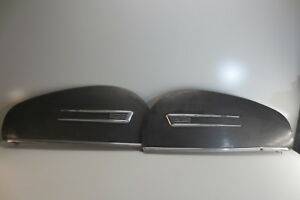 1941 Buick Fender Skirts Teardrop Bubble Look With Trim Accessory Nice Pair