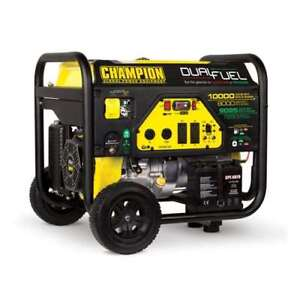 Champion 8000 Watt Quiet Electric Start Rv Ready Dual Fuel Generator used