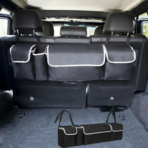 1pcs Car Auto Rear Trunk Seat Back Organizer Rear Storage Interior Premium Bag