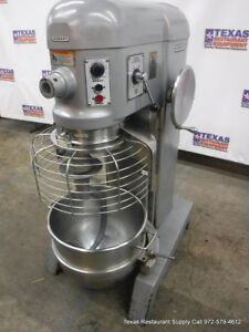Hobart H 600t Donut Dough Mixer 60 Quart Bowl Guard 60 Qt Bowl Hook One Phase