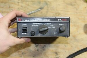 Federal Signal Corporation Pa300 Series Electronic Siren