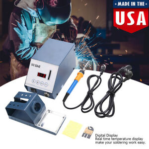110v Soldering Rework Station Smd Iron Welder Gun Hot Air Gun Welder Tool Us