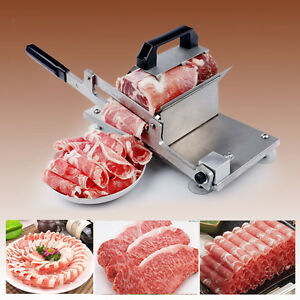 Hi q Manual Control Meat Slicer Stainless Cutting Beef Mutton Sheet Food Kitchen