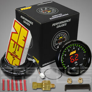 Aem 30 0301 X Series Electronic 100psi 7bar Oil Pressure Gauge Meter