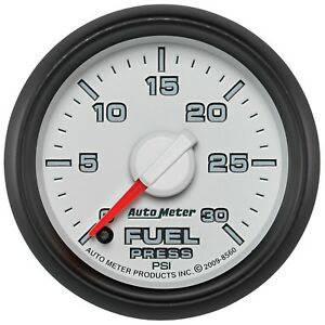 8560 Autometer Factory Match 52 4mm Full Sweep Electronic 0 30 Psi Fuel Pressure