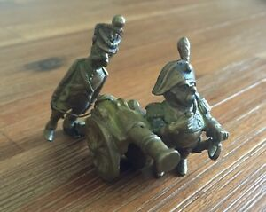 Antique French Or Austrian Soldiers Miniature Vienna Bronze Grouping