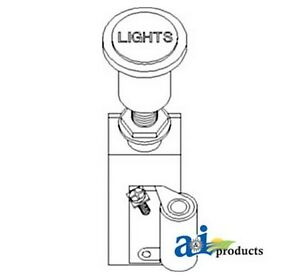A And I Af708r Switch Light 6 Volt For John Deere Tractor