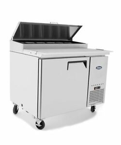 New 44 Refrigerated Pizza Prep Table 1 Door 6 Pans 19 5 Deep Board
