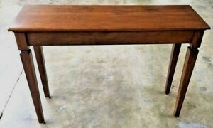 New Solid Cherry Console Sofa Side Entry Table Ethan Allen Styling Made Usa