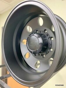 4 17 X6 5 Chevy Gmc 8 Lug Alcoa Style Dually Black Wheels 2010 2018 New