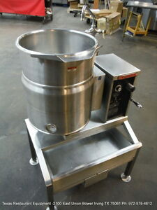 Market Forge 10 Gallons Electric Tilt Kettle Fct 10ce With Stand