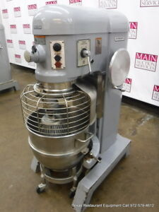 Hobart H 600t Donut Dough Mixer 60 Quart 60 Qt Bowl Dolly Whip Hook