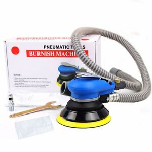 Random Orbital Air Palm Sander Car Polisher Vacuum Cleaner Tool Black