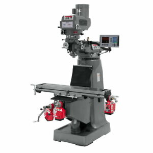 Jet 690141 Jtm 4vs Mill 3 axis Acu rite 200s Dro quill X Y Z axis Powerfeed