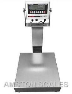Stainless Steel 16 x16 300 Lb Digital Scale Shipping Food Warehouse Bench Op