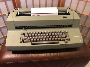 Ibm Selectric Ii Correcting Typewriter Tan Vintage Working