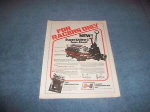 1978 Hurst Super Shifter 3 Vintage Ad For Racers Only 4 Speed Shifter Loc Out