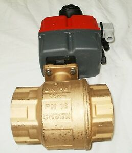 Valworx 561055a Electric Actuated Brass Ball Valve 3in Nptf 115 240v New Cw617n