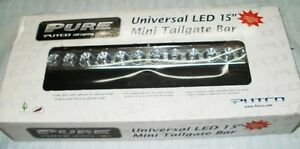 Putco 940315 Universal Pure Led Mini Tailgate Light Bar 15in Clear New