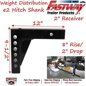 92 02 4213 Fastway Trailer E2 Weight Distribution 12 Hitch Shank With 8 Rise