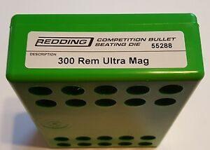 55288 REDDING COMPETITION SEATING DIE - 300 REM ULTRA MAG RUM - NEW - FREE SHIP