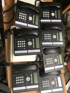 7 Avaya 1416 Ip Phones W handsets Back Light Lcd Telephones
