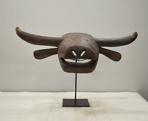 African Mask Bush Cow Tabwa Tribe Congo