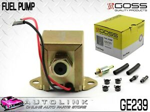 Goss Electric Fuel Pump Universal In Line Low Pressure 12v 4 5 6 Psi Ge239