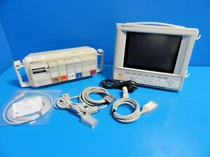 Hp Viridia 24c Colored Patient Care Monitor W Nbp Spo2 Ecg Leads 14554