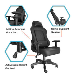 Gaming Chair Computer Office Racing Seats Rocker Adjustable Recliner E sports Us