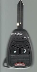 Replacement Remote Key Fob For 2006 2007 2008 2009 2010 2011 Chrysler Pt Cruiser