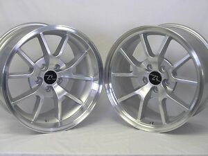 18 Silver Mustang Fr500 Style Wheels Rims Staggered 18x9 18x10 5x114 3 94 04