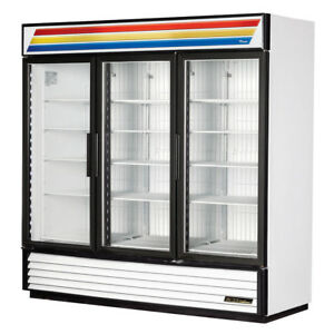 True Refrigeration Merchandiser 3 compartment Freezer W Glass Doors