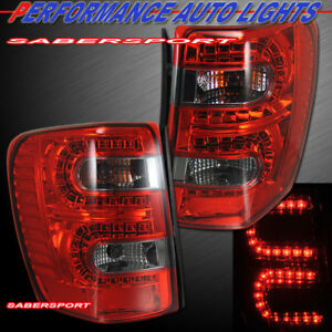 Set Of Pair Red Smoke Led Taillights For 1999 2004 Jeep Grand Cherokee