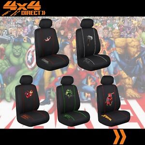 Single Licensed Marvel Avengers Seat Cover For Pontiac Fiero