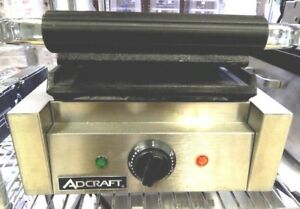 Adcraft Countertop Sandwich Grill With Flat Plates Sg 811 fb new Sealed