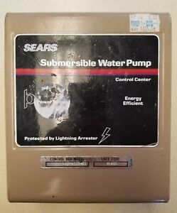 Sears 230v Submersible Pump Control Center Surge Protector Scp4300 01