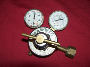 Harris Model No 25 100 Air Oxygen Cutting Torch Regulator Gauges Welding 25 100
