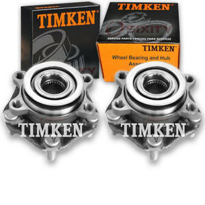 Timken Front Wheel Bearing Hub Assembly For 2013 2017 Nissan Sentra Pair Nq