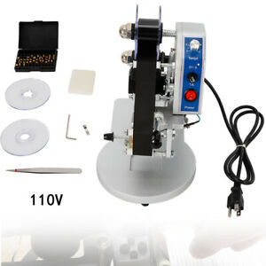 Manual Stamping Date Code Printer Hot Foil Thermal Ribbon Printing Machine 110v