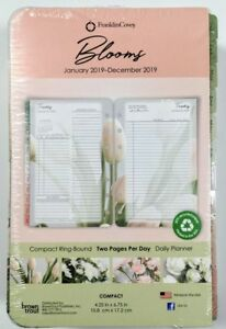Franklin Covey Daily Planner Refills Compact blooms 2019 2 Pages day 68618